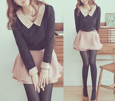 Teen Fashion I love the peter pan collar!                                                                                                                                                                                 More