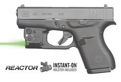 Reactor 5 Green laser sight for Glock 43 featuring ECR Includes Hybrid Belt Holster