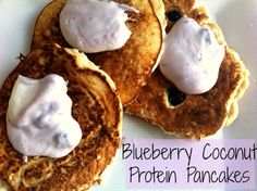 Little b's healthy habits: Blueberry Coconut Protein Pancakes