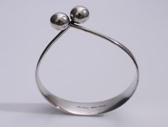Designed by Bent Gabrielsen for Hans Hansen c.1960 Sterling Silver