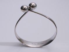 Designed by Bent Gabrielsen for Hans Hansen c.1960 Sterling Silver