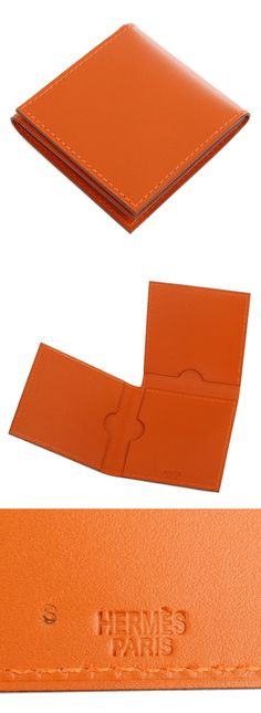 21634 Auth Hermes Potiron Orange Veau Chamonix Leather Etui HMMM Condom Case New | eBay