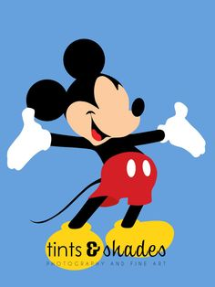 Mickey Mouse Minimalist Poster by TintsShadesFineArt on Etsy