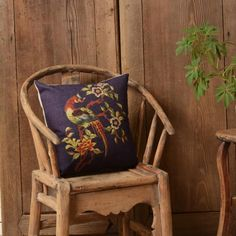 Auspicious dragon and phoenix pillow for couch Chinese style