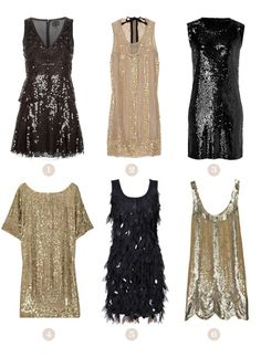 Art Deco Glam Dresses-- bottom right dress Glam Dresses, Nice Dresses, Sparkly Dresses, 1920s Party Dresses, Vegas Dresses, Flapper Dresses, Short Dresses, New Years Eve Dresses, Silvester Party