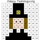 One by one digit multiplication. One by two digit multiplication.  Keywords: Thanksgiving, Pilgrim, Worksheet, Math, Multiplication, Review, Practi...