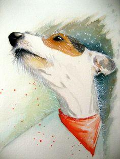Dog Jack Russell commissions michellecampbellart.com