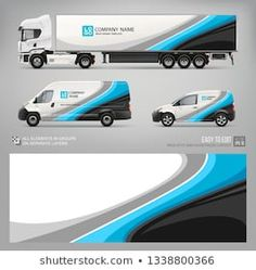 Van, truck trailer wrap decal for livery branding design and corporate identity company . Abstract graphic of blue stripes Wrap, sticker and decal design for transport. Car Repair Service, Auto Service, Car Stickers, Car Decals, Racing Stickers, Vehicle Signage, Truck Design, Trailer, Car Brands
