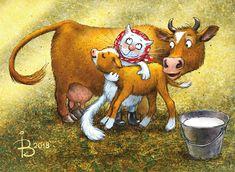 Ирина Зенюк / Коты / Животные / Коровы / Посткроссинг / Открытки / Irina Zeniuk / Cats / Animals / Cows / Postcrossing / Postcards