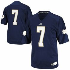 adidas Notre Dame Fighting Irish Youth #7 Replica Football Jersey - Navy Blue