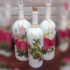 Decupagem na decor das garrafas                                                                                                                                                                                 Mais