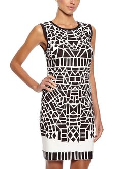 On ideel: NICOLE MILLER Equilateral Printed Cocktail Dress