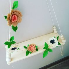 Check out this item in my Etsy shop https://www.etsy.com/listing/538744139/felt-flowers-garland-handmade-home-decor