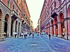 The main avenues in the historic centre of Bologna turn into pedestrian zones every Sunday.