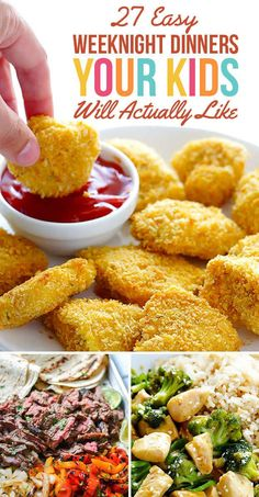 27 Easy Weeknight Dinners Your Kids Will Actually Like – so many yummy looking meals in here! 27 Easy Weeknight Dinners Your Kids Will Actually Like – so many yummy looking meals in here! Baby Food Recipes, Easy Dinner Recipes, Budget Recipes, Fun Recipes, Meal Recipes, Potato Recipes, Pasta Recipes, Planning Menu, Family Meal Planning