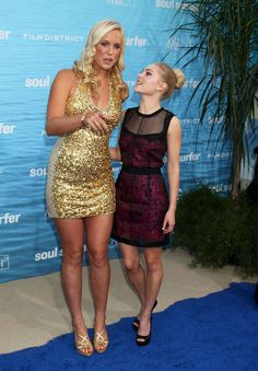 """Perspective is everything. This is Bethany Hamilton, a professional athlete who is in outstanding shape, standing next to AnnaSophia Robb, the actress who played her in the film """"Soul Surfer."""""""