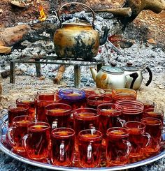 Tea Time in the Province Kirmaşan, western Iran.