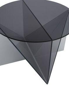 Table basse Trace / Ø 65 x H 45 cm Fumé - Tom Dixon