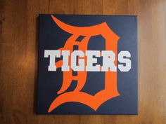 Detroit Tigers 12x12 Hand Painted Canvas