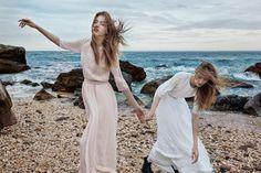 Odette Pavlova and Lia Pavlova by Yelena Yemchuk for Ulla Johnson spring-summer 2016 campaign.