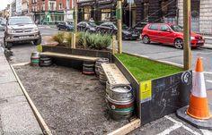 Parklet, Dublin, Ireland. Click image for full story and visit the slowottawa.ca boards >> https://www.pinterest.com/slowottawa/boards