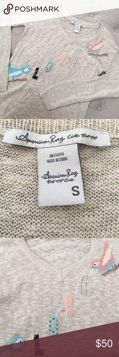 🆕 American Rag Love Sweater Brand-new with tags. Beautiful American rag sweater. Perfect for the fall/ winter weather to layer! Size small. 100% cotton. Reminds me of the Anthropologie -like style! Bundle for additional discount, will consider reasonable offers. American Rag Sweaters