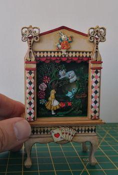 Disney Princess Drawings, Miniature Furniture, Dollhouse Miniatures, Alice, Decorative Boxes, Hand Painted, Inspiration, Home Decor, Biblical Inspiration