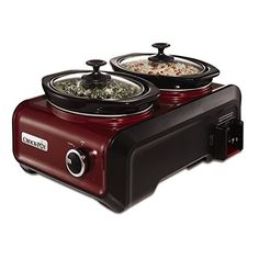 Gifts for your hostess girlfriend. Gifts for the girlfriend who entertains. Gifts For Your Girlfriend.    Crock-Pot SCCPMD1-R Hook Up Double Oval Connectable Entertaining Slow Cooker System, 1-Quart, Metallic Red