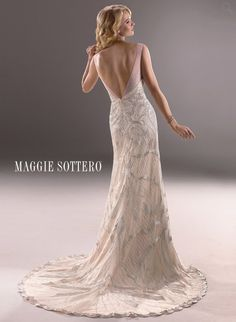 Authorized Maggie Sottero Dealer - Shop our Maggie Sottero Couture Bridal Gowns and Weddings Dresses at our Long Island and New York Bridal Salons. Informal Wedding Dresses, Elegant Wedding Gowns, Luxe Wedding, Wedding Dress Styles, Bridal Dresses, 1920s Wedding, Open Back Wedding Dress, Maggie Sottero Wedding Dresses, Dress Attire