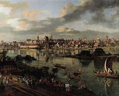 Bernardo Bellotto Canaletto (1721-1780), Widok Warszawy od strony Pragi (1770), wł. Zamek Królewski w Warszawie