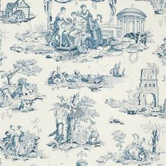 This kind of Chinese pattern (that I was never very fond of) is called 'Toile de Jouy'.