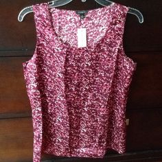 Ann Taylor Silk Top New with tag Ann Taylor 100% Silk Shell. Size Small. Fuchsia rose detail. Scoop neck. Sleeveless. Not Factory or LOFT. Ann Taylor Tops Blouses