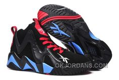 90b2464a1b97 Reebok Kamikaze II Mid Mens Fashion Sneaker Basketball Black Blue Red For  Sale Mh6CK