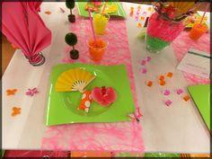 Table de Fête toute acidulée ! Idéal pour un anniversaire entre filles. Retrouvez pleins d'idées de déco de table : http://www.boutique-jourdefete.com/blog/actualite-des-magasins/idees-de-decoration-de-table/