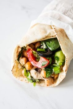 Mediterranean Chickpea Wraps (Meal Prep Option) - Beauty Bites