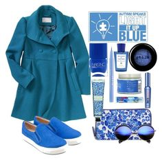 """Light it up Blue!"" by elliewriter ❤ liked on Polyvore featuring moda, Old Navy, River Island, Brooks Brothers, Lipsy, Stila, Benefit, Vita Coco, Laura Ashley i Acqua di Parma"