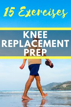 Do your best to be in shape before knee replacement surgery. Try to control your weight and maximize flexibility. I'll share my top exercises before I had TKR surgery. #knee pain #knee surgery #knee exercises