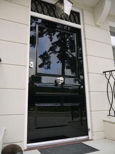Pergola Above Garage Door Beautiful Front Doors, Black Front Doors, Pergola, External Doors, Front Door Design, Iron Doors, Entrance Doors, Interior Barn Doors, House Front