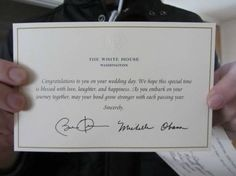 If you send your wedding invitation to the President...  which i will be doing...