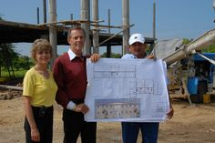 Gary and Mary Young with plans for #YoungLiving Academy before it was built! #ThrowbackThursday