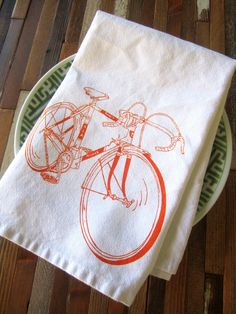 Organic Cotton Cloth Napkins Screen Printed by ohlittlerabbit