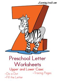 Free Preschool Letter Worksheets for the letter Z so that your kids can work on their preschool letter recognition.Includes links to A to Z