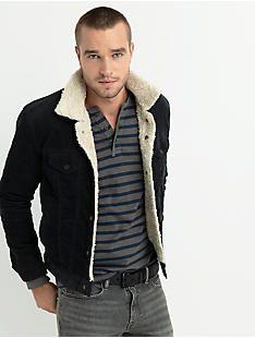 LAKEWOOD SHERPA CORDUROY JACKET, #001 BLACK Corduroy Sherpa Jacket, Black Corduroy Jacket, Bomber Jacket Winter, Mens Sherpa, Lakme Fashion Week, Comfortable Outfits, Denim Jeans, Overalls, Leather Jacket