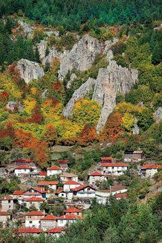 Un pueblo en la montaña Rodopi, BG