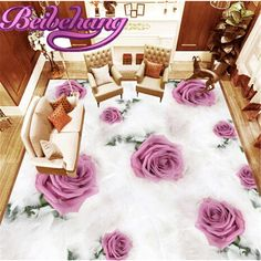 ==> [Free Shipping] Buy Best beibehang size feather rose 3D flooring three-dimensional painting HD floor film papel de parede para sala atacado 3d flooring Online with LOWEST Price | 32801856832
