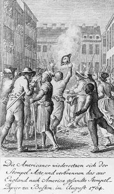 Stamp Act Protest Signs