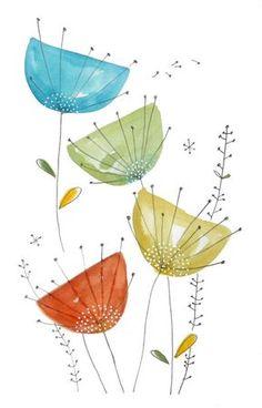 Cette illustration de Cécile Hudrisier serait non seulement facile à reproduire sur céramique, mais a un caractère ludique très joli!