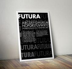 Futura Type Specimen Sheet by Paige Westerhausen, via Behance