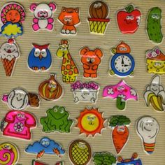 I totally had an album full of these! puffies! from the 80's
