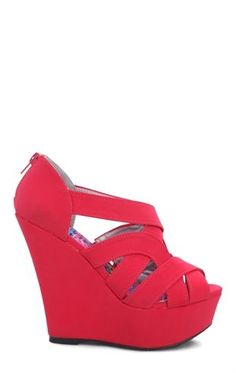 Deb Shops Open Toe Platform #Wedges with Intertwined Strappy Upper $27.67
